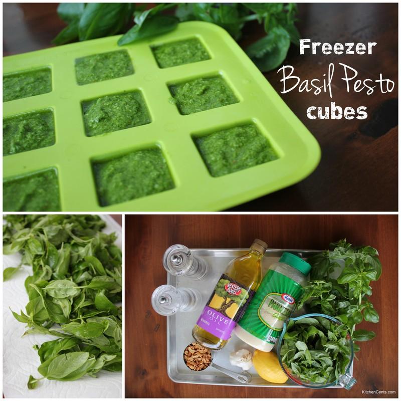 Freezer Basil Pesto Cubes | KitchenCents.com