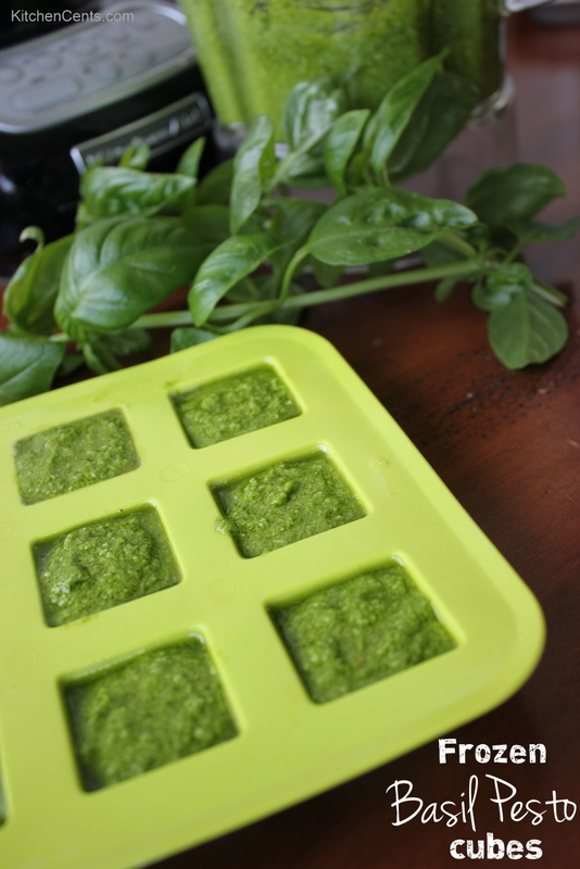 Freezing pesto cubes | KitchenCents.com