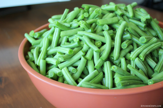 fresh-green-beans | KitchenCents.com