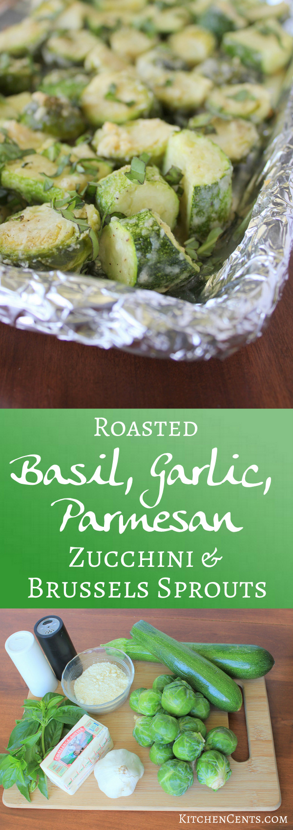 garlic-parmesan-brussel-sprouts-and-zucchini | KitchenCents.com