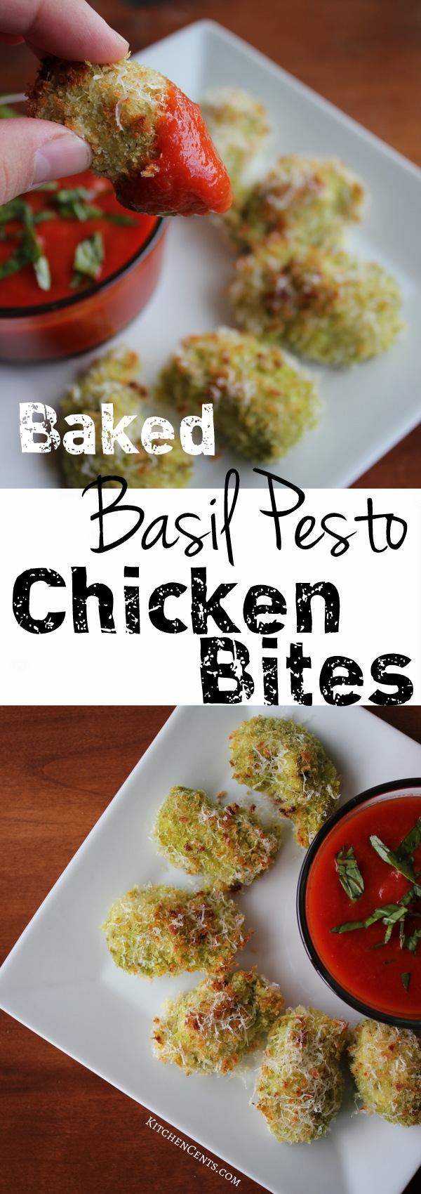 baked-basil-pesto-chicken-bites | kitchencents-com