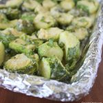 Roasted Basil Garlic Parmesan Brussel Sprouts and Zucchini   KitchenCents.com