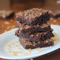 Chewy Toffee Brownies