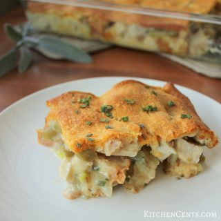 Easy Sage Thanksgiving Casserole | KitchenCents.com