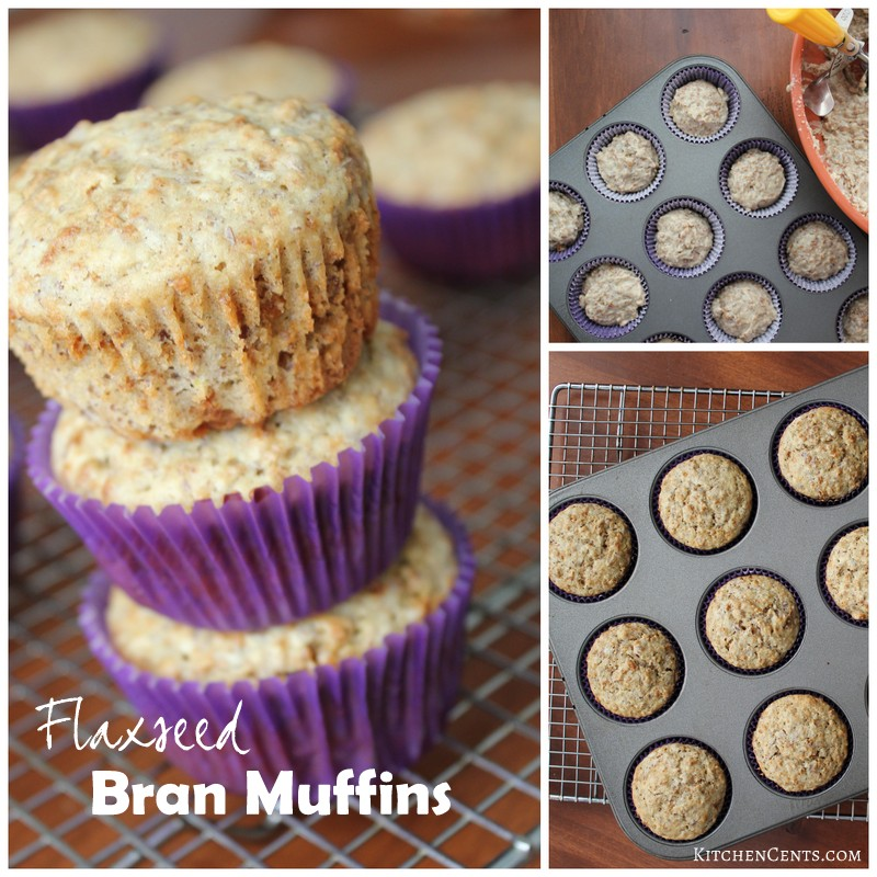 flaxseed-bran-muffins | KitchenCents.com