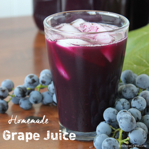 homemade-grape-juice | KitchenCents.com