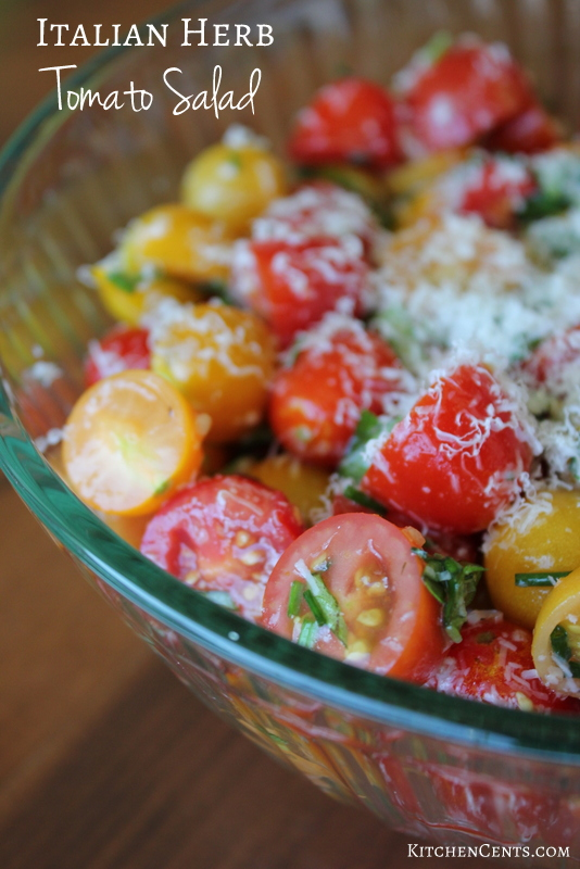 italian-herb-tomato-salad | KitchenCents.com