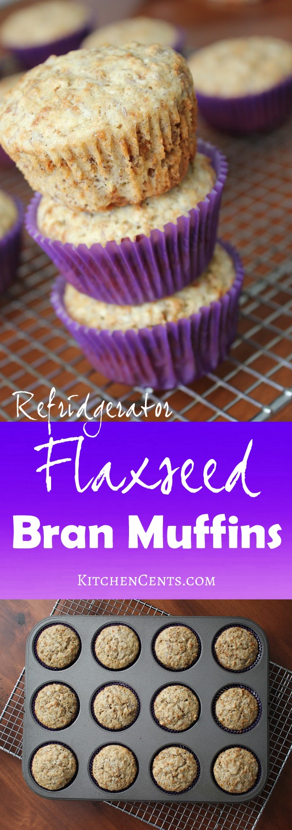 refridgerator-flaxseed-bran-muffins | KitchenCents.com