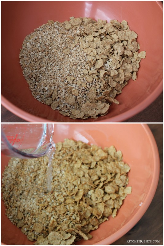 soften-bran-with-water-soda-mixture | KitchenCents.com
