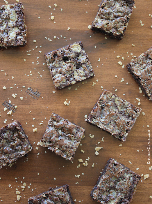 Chewy Toffee Brownies | KitchenCents.com