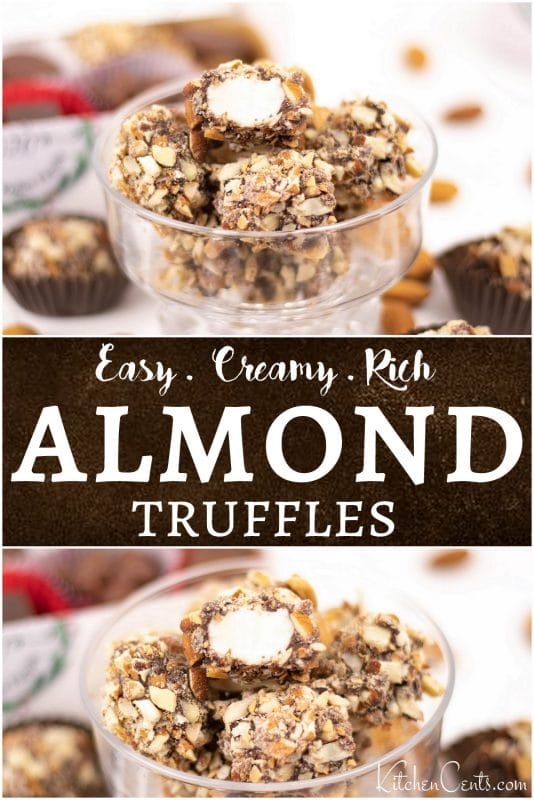 Easy Homemade Chocolate Almond Truffles made at home | Kitchen Cents