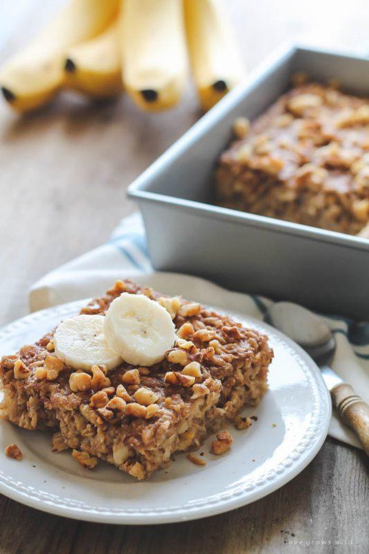 Banana Bread Baked Oatmeal | 21+ Christmas Morning Breakfast Ideas
