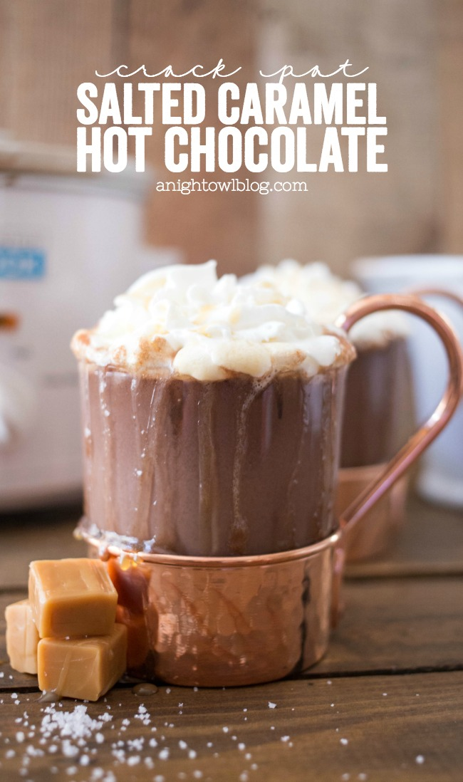 Crock Pot Salted Caramel Hot Chocolate | 15+ Hot Chocolate recipes
