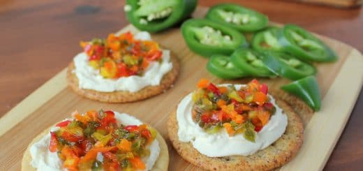 Easy Sweet & Spicy Pepper Relish Cream Cheese Spread | KitchenCents.com