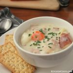 Creamy Crockpot Ham and Potato Soup   KitchenCents.com