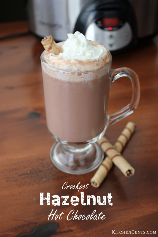 Crockpot Hazelnut Hot Chocolate | 15+ Hot Chocolate recipes