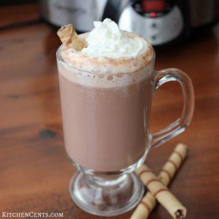 Crockpot Hazelnut Hot Chocolate | KitchenCents.com