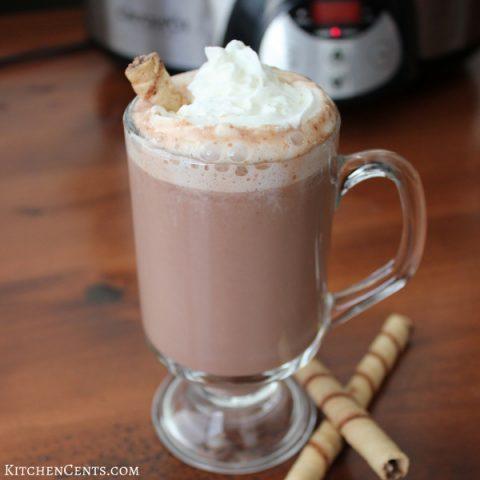 Crockpot Hazelnut Hot Chocolate