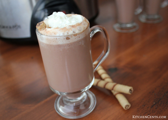Crockpot Hazelnut Hot Chocolate | KitchenCents.com