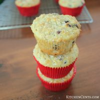 Sugar Sprinkled Cranberry Oatmeal Muffins