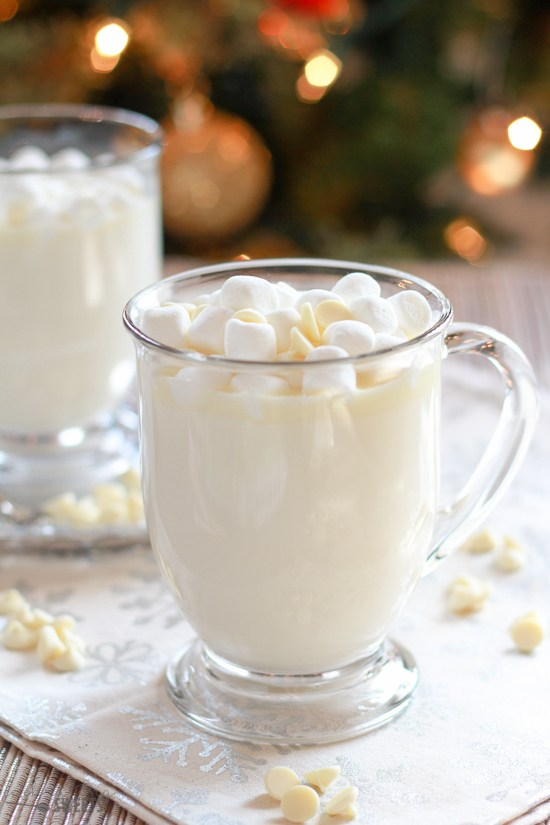 Homemade White Hot Chocolate | 15+ Hot Chocolate recipes