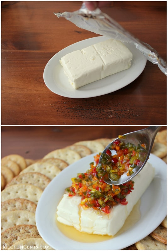Pepper Relish Cheese Platter | KitchenCents.com