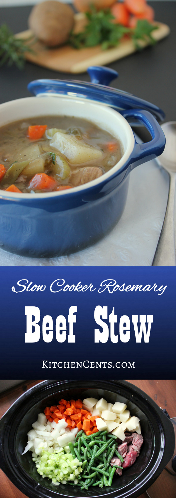 Slow Cooker Rosemary Beef Stew | KitchenCents.com
