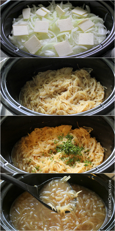 Crockpot French Onion Soup | KitchenCents.com