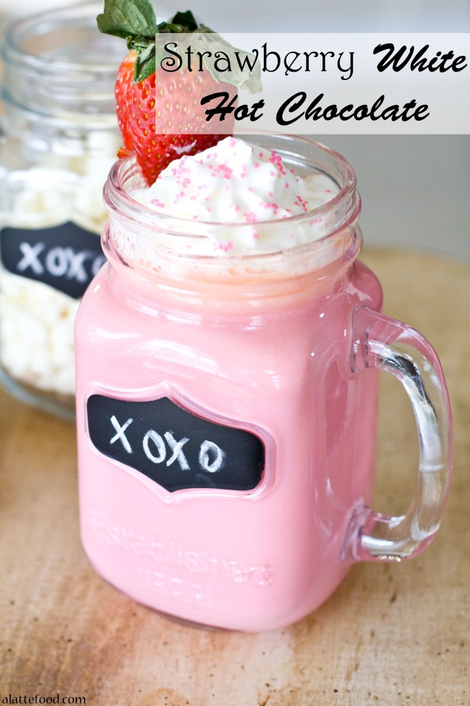 Strawberry White Hot Chocolate | 15+ Hot Chocolate recipes