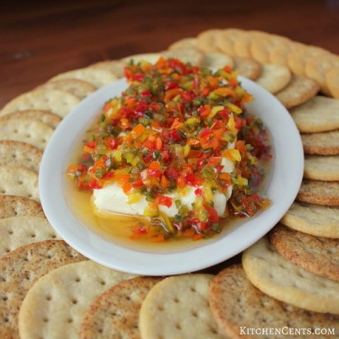 Sweet & Spicy Pepper Relish Cheese Spread