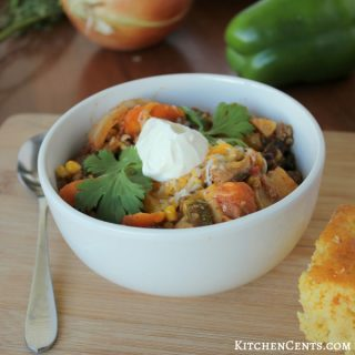Turkey, Sweet Potato and Veggies Chili Chowder | KitchenCents.com