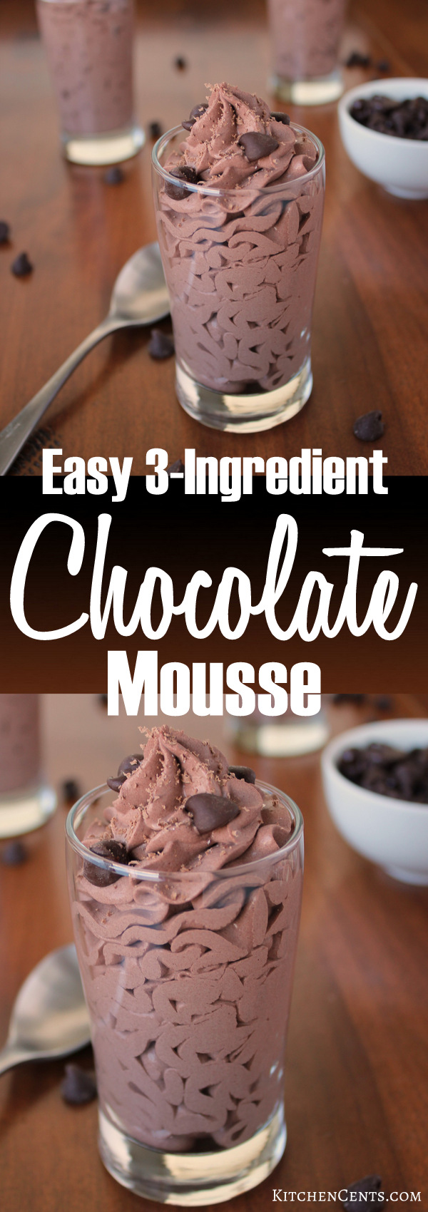 Easy 3-Ingredient Chocolate Mousse | Kitchen Cents