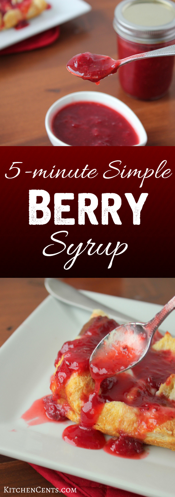 5-minute Simple Berry Syrup | KitchenCents.com
