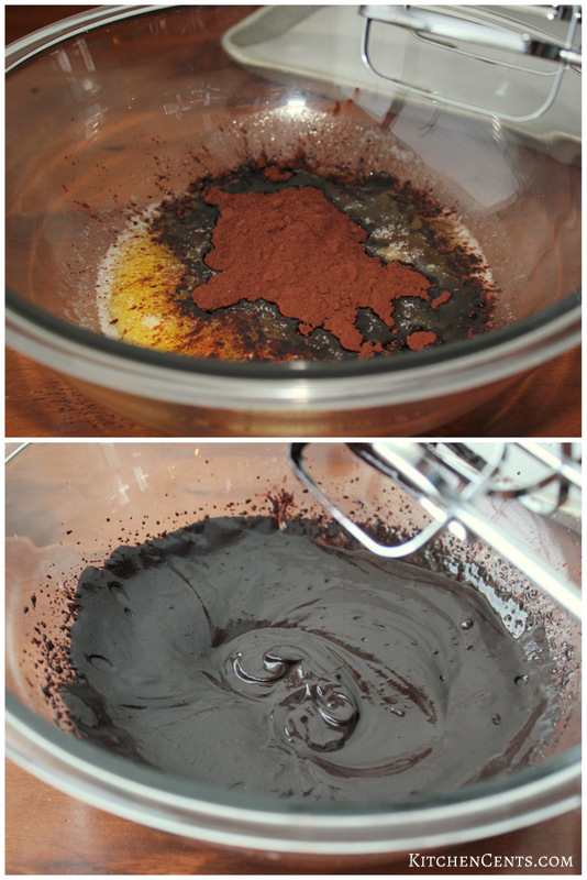 Brownie batter steps
