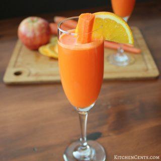 Carrot Citrus Sunrise Mocktail | KitchenCents.com
