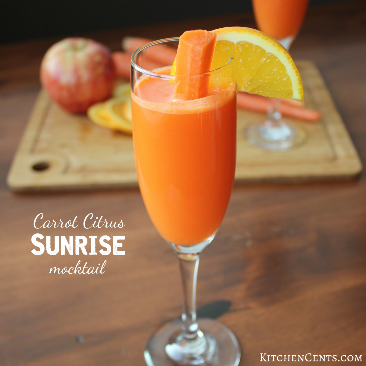 Carrot Citrus Sunrise Mocktail