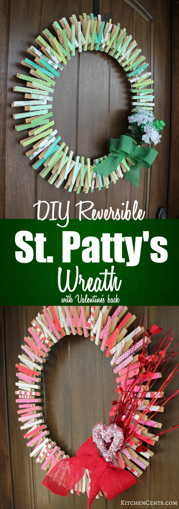 DIY Reversible St. Patty's Wreath | KitchenCents.com