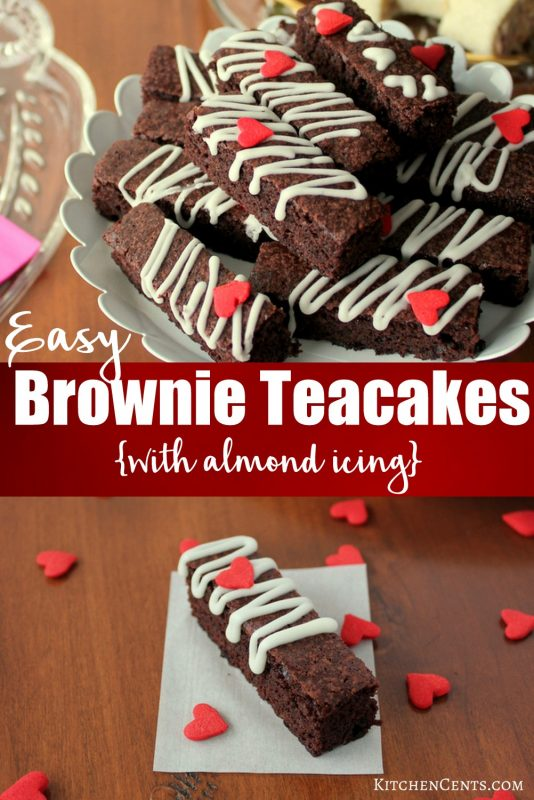 Dainty Easy Brownie Teacakes with Red Hearts | Kitchen Cents