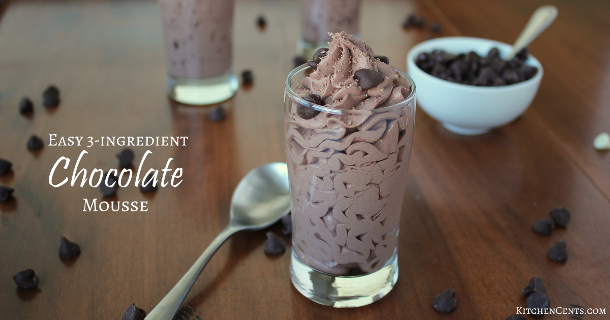 How to make simple chocolate mousse at home