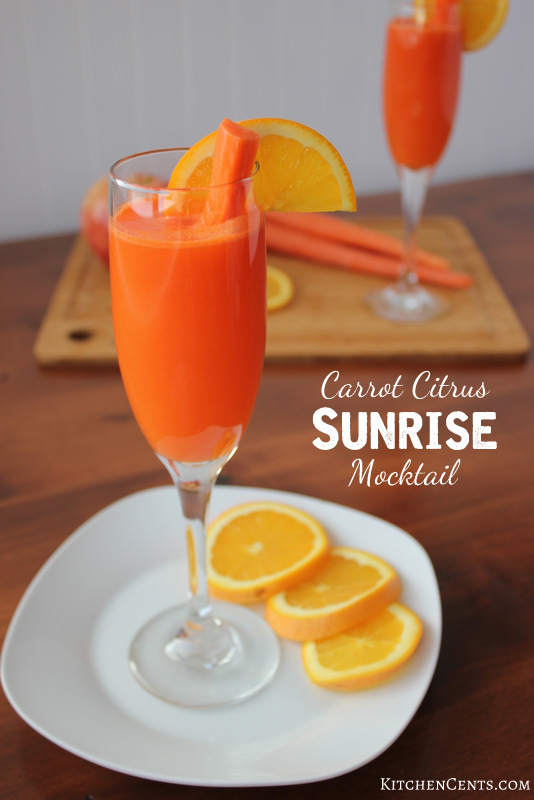 Carrot Citrus Sunrise Mocktail | KitchenCents.com