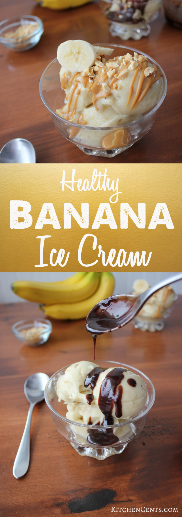 Easy Healthy Banana Ice Cream | KitchenCents.com