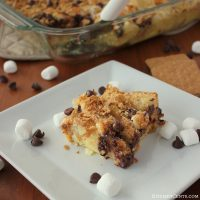 S'mores French Toast Bread Pudding