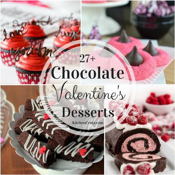 27+ Chocolate Valentine's Desserts | KitchenCents.com