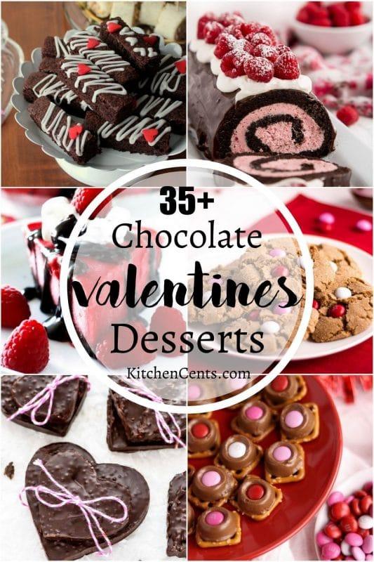 35+ Chocolate Valentines Desserts perfect Valentine's Day desserts | Kitchen Cents