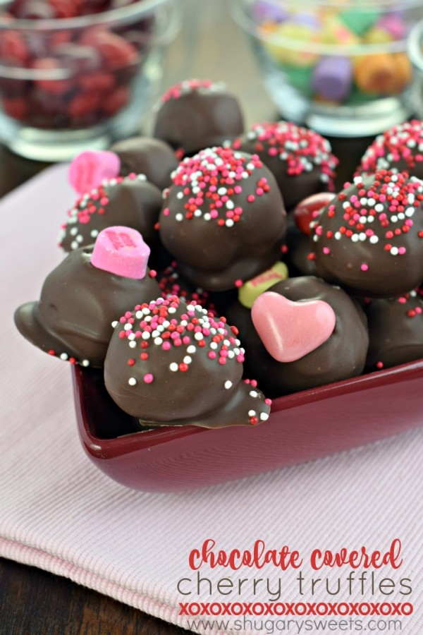 Chocolate Covered Cherry Truffles | 27+ Chocolate Valentine's Desserts