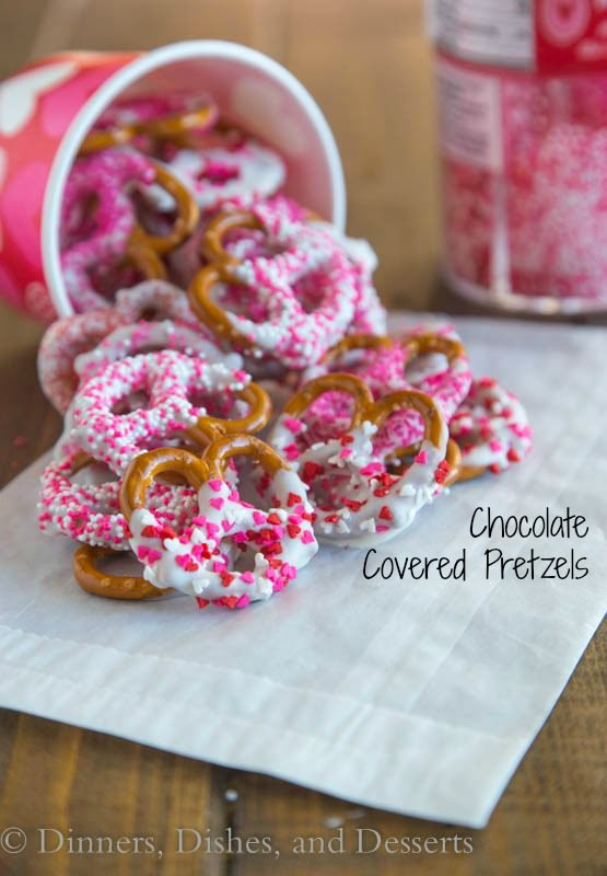 Chocolate Covered Pretzels | 27+ Chocolate Valentine's Desserts