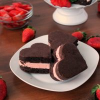 Homemade Chocolate Covered Strawberry Ice Cream Sandwiches