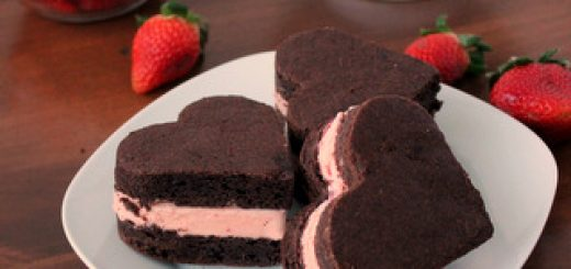 Chocolate-Covered Strawberry Ice Cream Sandwiches | Kitchen Cents