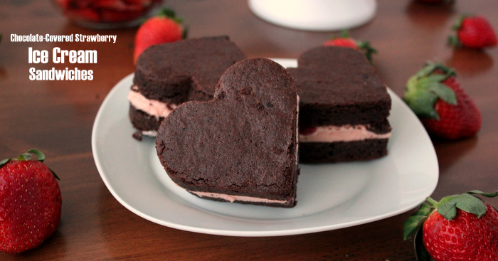 Homemade Chocolate-Covered Strawberry Ice Cream Sandwiches | Kitchen Cents