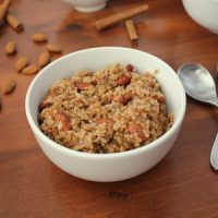 Healthy Instant Pot Steel-Cut Oatmeal with cinnamon and almond